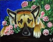 German Shepherd Dog Fine Art Print- 8x10 by Nesbitt, Team EFA