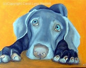 Fine Art Print 8x10 Weimaraner Dog by Nesbitt, Art for Animals