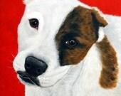 SALE- 16x20 Original Pit Bull Painting by Nesbitt