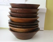 Rustic Farmhouse Bowls.  Wooden.  Stacking.