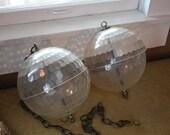 PAIR Clear Disco Ball Swag Globes.