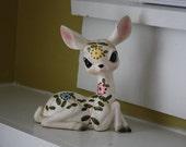 Doe Eyed Deer.  Handpainted.  Tilso.
