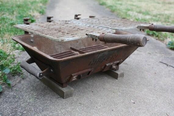 for dfraggd.  1950's Hibachi Grill - Cast Iron