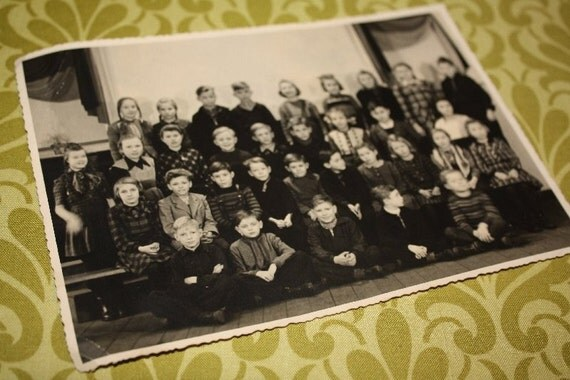 1950 Class Photo.  Original old photo.