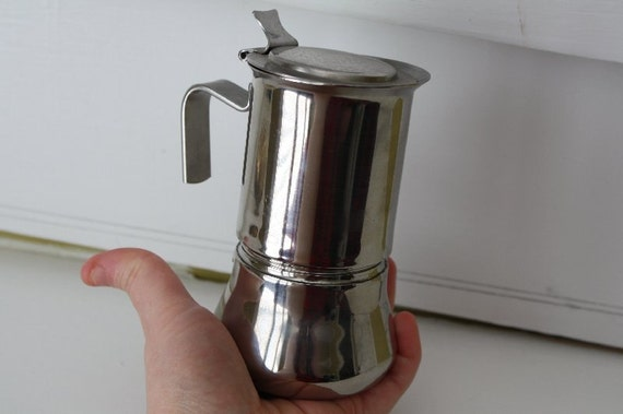 Tiny INOX Espresso Maker.  Stovetop.