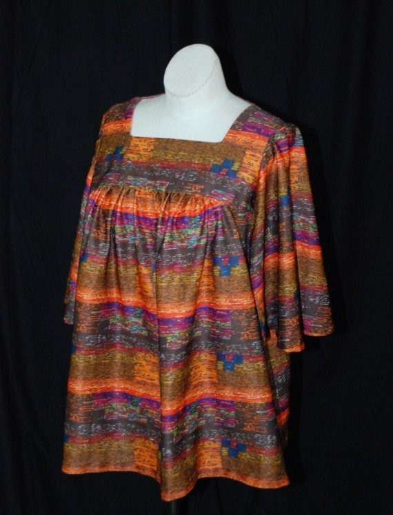 Psychadelic Trapeze Tunic.  Fits most.