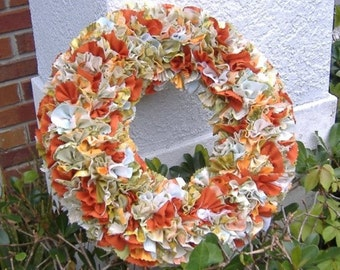 Recycled Fabric Wreath Orange Multicolor