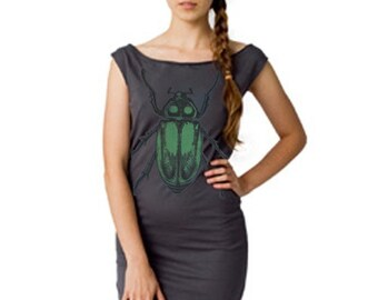Emerald Beetle Tshirt Dress