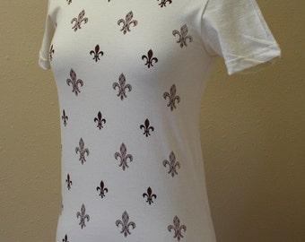 New Orleans Fleur de Lis Organic T Shirt