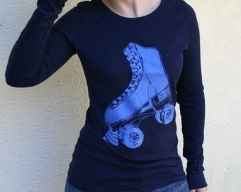Electric Blue Rollerskate Long Sleeve top