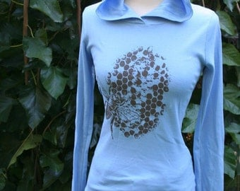Blue Honey Bee Hoody