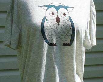 Owl open back Pony Shirt