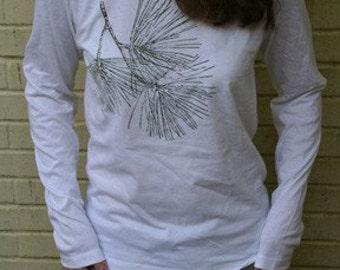 White Organic Pine Long Sleeve large