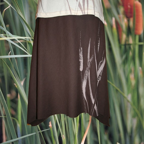 Brown Cattails Skirt small