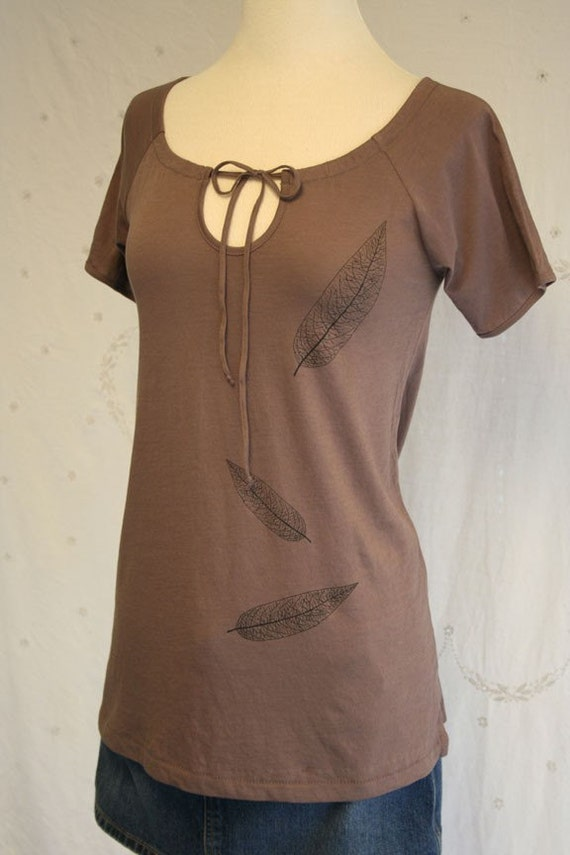 Autumn Leaves rich brown tunic large