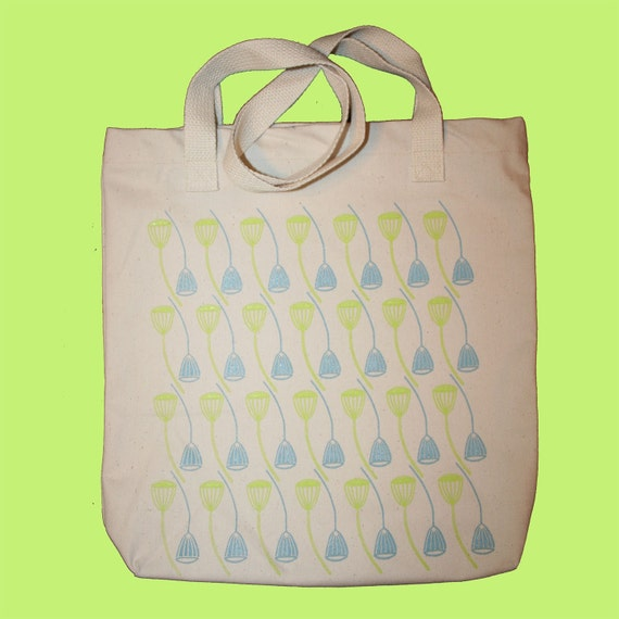 Sale Mod Pod Tote Bag in Blue and Green
