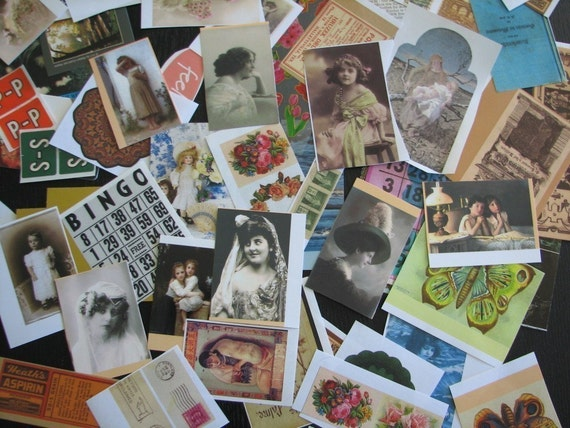 PaperPack Ephemera Collage Altered Art Mixed Media 50pc