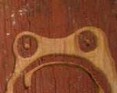 Frowny Frog Woodcarving