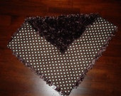 SALE  BROWN MINKY CHENILLE BABY BLANKET FOR YOUR PRINCESS