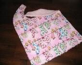 PINK CHENILLE BABY TODDLER BIB SOCKS