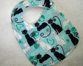 Baby Girl Bib With Pretty Cats