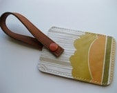 Wallpaper Luggage Tag---Vintage Forest Pattern