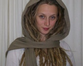 Lay Low Hoodie Scarf     Organic Cotton and Bamboo