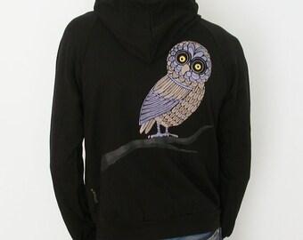 SALE  Hood Swamp Hoot owl Mens Hoodie