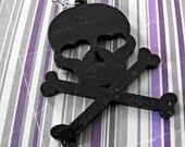 love breakup poison purple stripes black skull 8x8 wall art original photograph