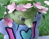 MERI, Small Garden or Kitchen Fairy, Tea Kettle Character