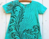 Emerald play dress with moss microflora - Size 4T