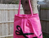 Cut It Up Pink and Black Pleather Purse