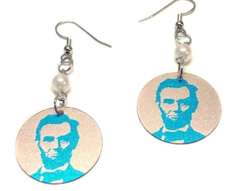 "Abraham ""The Babe"" Lincoln Earrings"