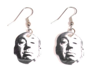 Alfred Hitchcock Floating Head Earrings