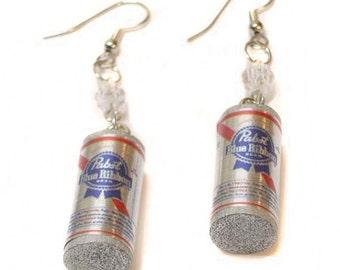 Pabst Blue Ribbon Earrings