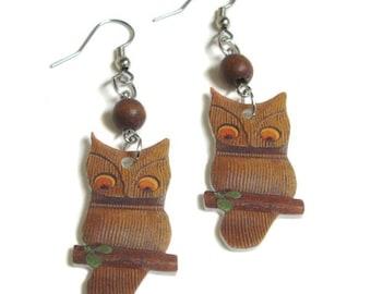 Kitschy Owl Earrings