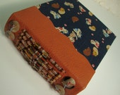 Cute KITTENS with Japanese Patterns Leather and Fabric Beaded Book Blank Art Journal