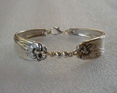 Spoon Bracelet Spoon Jewelry Recycled Silverware Daffodil Sterling Silver  Beads Made to Order