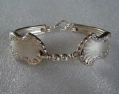 Spoon Bracelet Recycled Silverware Jewelry Concerto Sterling Silver Beads Size 6 Ready to Ship