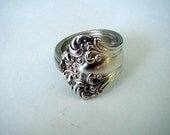 Spoon Jewelry Ring Recycled Silverware Antique Avon Pattern 1901 Custom Sizing