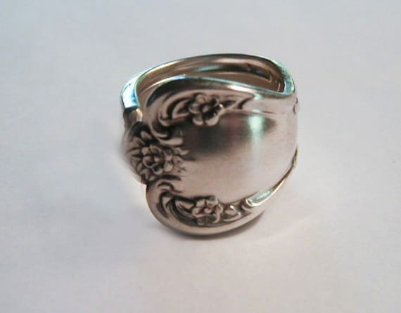 Spoon Ring Recycled  Silverware Jewelry Floral Daybreak Made to Order