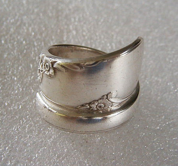 Spoon Ring Recycled Silverware Jewelry Floral Bridal Wreath Made to Order
