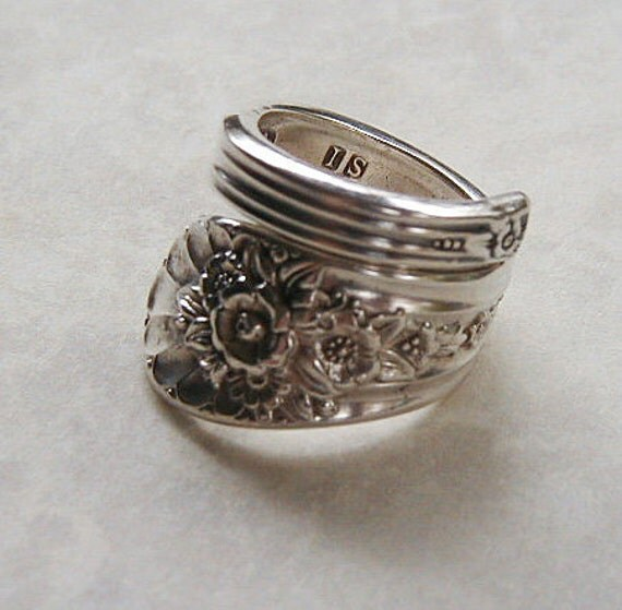 Spoon Ring Recycled Silverware Jewelry Jubilee Sidewinder Made to Order