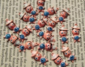 Vintage painted cartoon boy charms