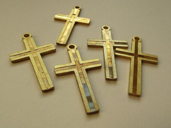 Vintage large brass cross