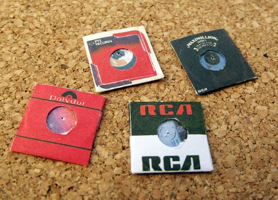 Dollhouse miniature records and books