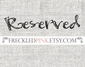 Reserved Listing for Alexia