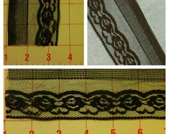 5 yards Black Lace 3 Designs to Choose from