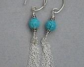 Tassel earrings 2 - Turquoise