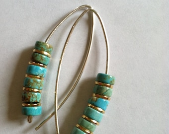 Another Silver Turquoise earrings